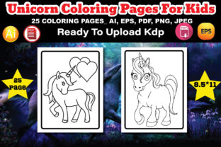 Unicorn Coloring Book for Kids Graphic Coloring Pages & Books Kids By design_Hutt
