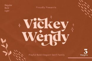 Print on Demand: Vickey Wendy Serif Font By creative.corner.62