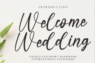 Print on Demand: Welcome Wedding Manuscrita Fuente Por Misterletter.co