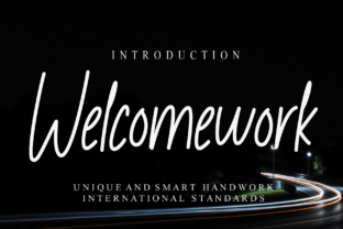 Print on Demand: Welcomework Script & Handwritten Font By Misterletter.co