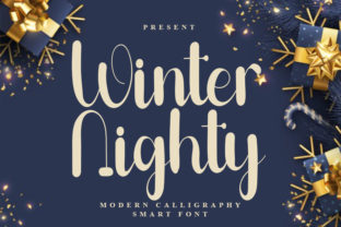 Print on Demand: Winter Nighty Script & Handwritten Font By FreshTypeINK