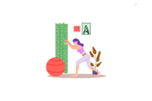 Gym Ball Graphic Illustrations By immut07