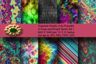 Print on Demand: 10 Deep and Bright Set 1 Graphic Backgrounds By Zaimfuls Mystic Arts