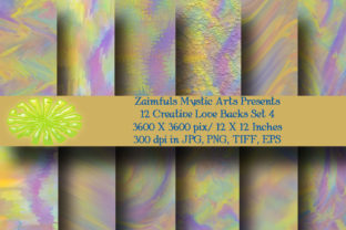 Print on Demand: 12 Creative Love Backs Pack 4 Graphic Backgrounds By Zaimfuls Mystic Arts