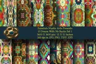Print on Demand: 15 Dream with Me Backs Set 1 Graphic Backgrounds By Zaimfuls Mystic Arts