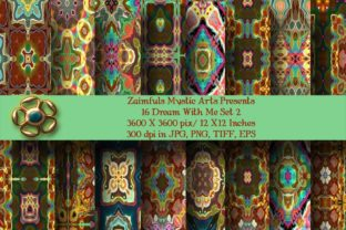 Print on Demand: 16 Dream with Me Set 2 Graphic Backgrounds By Zaimfuls Mystic Arts