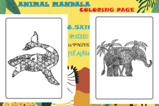 Animal Mandala Coloring Page | Kdp Graphic KDP Interiors By Creative interior