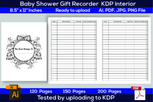 Print on Demand: Baby Shower Gift Recorder KDP Interior Graphic KDP Interiors By Iqra Graphics Design