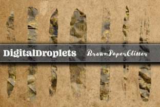 Brown Paper Glitter | 400 Brush Strokes Graphic Objects By FlyingMonkies