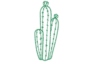 Cactus Group Outline Outline Flowers Embroidery Design By designsbymira
