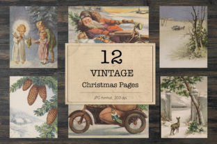 Print on Demand: Christmas Images, Ephemera Classics Graphic Backgrounds By northseastudio