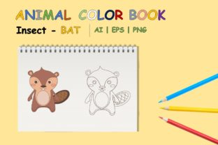 Coloring Book Animal for Kids - Beaver Graphic Coloring Pages & Books Kids By VeniaStudio