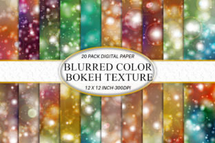 Digital Paper Bokeh Light Background Graphic Backgrounds By Artnoy