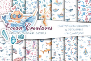 Print on Demand: Digital Paper Pack / Seamless Patterns Graphic Patterns By Tiana Geo