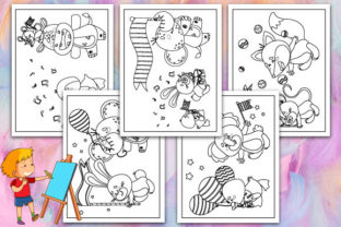 Print on Demand: Family Animals Coloring Pages Graphic KDP Interiors By TrendColors