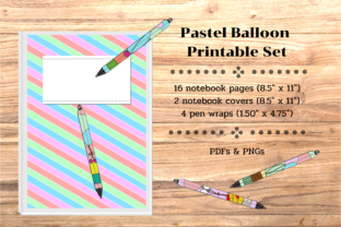 Floated Balloon Printable Set Graphic Print Templates By Toei Design