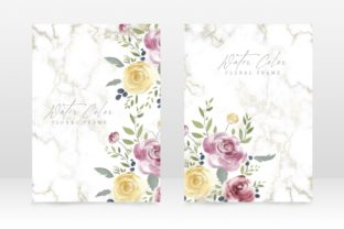 Print on Demand: Floral Watercolor Party Wedding Invite Graphic Graphic Templates By PatternHousePk