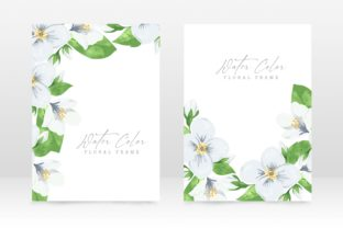 Print on Demand: Floral Watercolor Wedding Invitation Graphic Graphic Templates By PatternHousePk