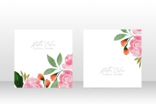 Print on Demand: Floral Watercolor Wedding Party Invite Graphic Graphic Templates By PatternHousePk