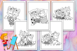 Print on Demand: Fox Coloring Pages Graphic KDP Interiors By TrendColors
