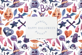 Print on Demand: Halloween Seamless Pattern with Pumpkin Graphic Patterns By Tiana Geo
