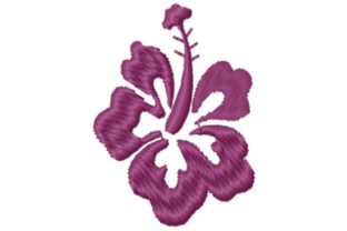 Hibiscus Bloom Single Flowers & Plants Embroidery Design By designsbymira