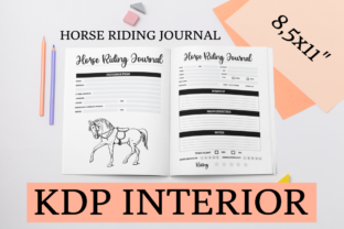 Print on Demand: Horse Riding Journal | KDP Interior Graphic KDP Interiors By KDP Mastermind