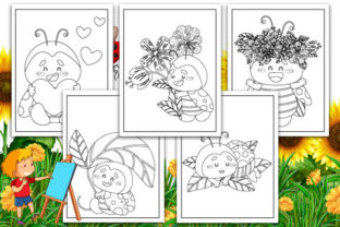 Print on Demand: Ladybugs Coloring Pages Graphic KDP Interiors By TrendColors