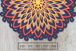 Print on Demand: Laser Cut 3D Layered Mandala Graphic Graphic 3D SVG By doridodesign
