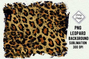 Print on Demand: Leopard Sublimation Designs Graphic Graphic Backgrounds By DenizDesign