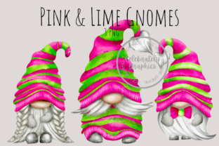 Pink & Lime Gnome Png Clipart Gráfico Ilustraciones Por Celebrately Graphics
