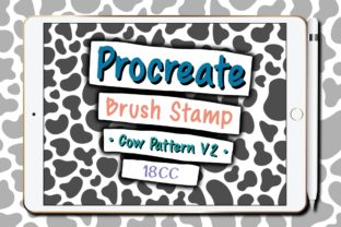 Print on Demand: Procreate Brush Stamp   Cow Pattern V2 Graphic Brushes By 18CC