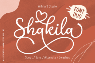 Print on Demand: Shakila Script & Handwritten Font By alifinart