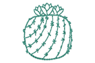 Stacked Cactus Outline Outline Flowers Embroidery Design By designsbymira