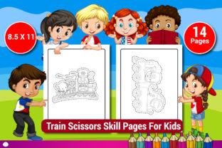 Train Scissors Skill Pages for Kids Graphic KDP Interiors By Sharif54