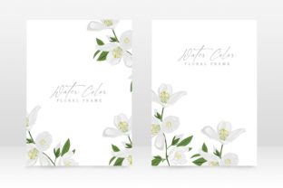 Print on Demand: Watecolor Floral Wedding Card Design Graphic Graphic Templates By PatternHousePk