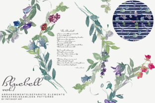 Watercolor Bluebell Huge Set Vol.1 Graphic Illustrations By Patishop Art