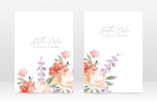 Print on Demand: Watercolor Floral Femenine Wedding Card Graphic Graphic Templates By PatternHousePk
