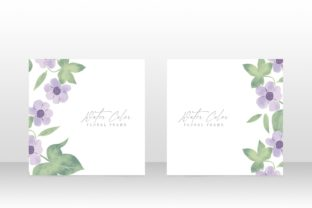 Print on Demand: Watercolor Floral Invite Wedding Card Graphic Graphic Templates By PatternHousePk