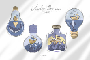 Print on Demand: Whale Clipart. Nautical Png Sublimation Graphic Print Templates By Tiana Geo