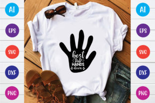 Best Dad  Hands Down Graphic Print Templates By Printable Store