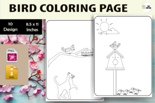 Print on Demand: Bird Coloring Page Graphic Coloring Pages & Books Kids By Sei Ripan