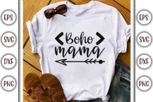 Print on Demand: Boho Quotes Design, Boho Mama Graphic Print Templates By GraphicsBooth