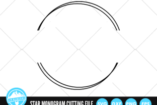 Circle Monogram SVG | Circle Split Frame Graphic Crafts By lddigital