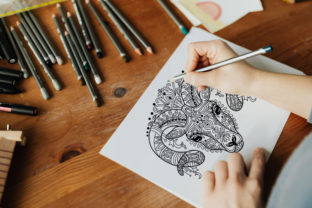 Coloring for Adult Tangled Head of Ram Graphic Coloring Pages & Books Adults By Alinart 2