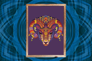 Coloring for Adult Tangled Head of Ram Graphic Coloring Pages & Books Adults By Alinart 3