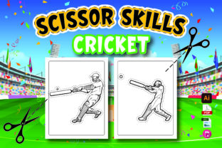 Cricket Scissor Skills for Kids Graphic Coloring Pages & Books Kids By Moonz Coloring