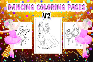 Dancing Coloring Pages V2 Graphic Coloring Pages & Books Kids By Moonz Coloring