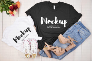 Dark Gray Mother Daughter T-Shirt Mockup Graphic Product Mockups By MyMockupStudio