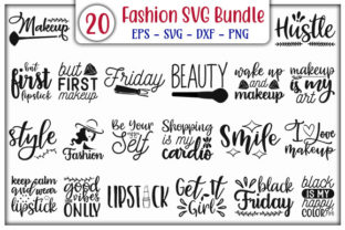 Print on Demand: Fashion SVG Design Bundle Graphic Print Templates By GraphicsBooth